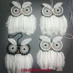 Owl Dreamcatchers those are awesome Owl Crafts, Crafts To Sell, Diy And Crafts, Arts And Crafts, Dream Catchers, Dream Catcher Craft, Los Dreamcatchers, Macrame Owl, Nativity Crafts