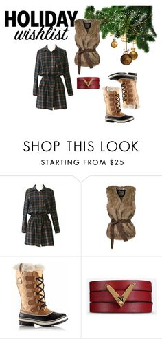 """""""Warm and Chic look"""" by gabriela-kiteva on Polyvore featuring SOREL and Valentino"""