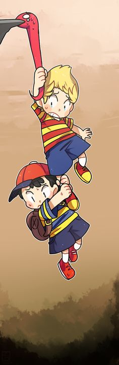 Earthbound's Ness and Lucas - All Sweedles, All the time : Photo Super Smash Ultimate, Mother Games, Super Smash Bros Brawl, Otaku, Nerd Cave, Mario, Zelda, Fire Emblem, Animal Crossing