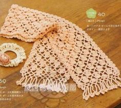 Found a whole bunch of scarf patterns here check them out... lots of very pretty patterns for all seasons...   http://crochet-gratuits.over...