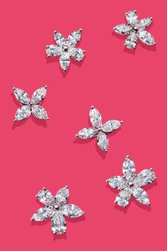 Platinum and diamond earrings from Tiffany Victoria® are sure to put stars in her eyes.