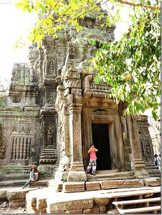 Ta Prohm with Kids - Siem Reap - Cambodia.  Read more on wanderluststorytellers.com.au