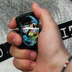 '80s Skull Zippo Lighter