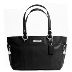 Coach Gallery Leather Zipper Tote Black Leather 19252 COACH. $244.97
