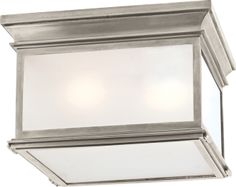 CLUB LARGE SQUARE FLUSH MOUNT CHC4129 Antique Nickel Circalighting