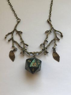 druid dice necklace dungeons and dragons pendant critical role fan stranger things tabletop gaming geek dungeon master jewelry ___________________________________________________________ druid necklace. The length of chain excludes the length of t Dungeons And Dragons Gifts, Dungeons And Dragons Characters, Dungeons And Dragons Accessories, Dnd Druid, Dragon Wedding, D20 Dice, Dragon Dies, Dragon Pendant, D 20