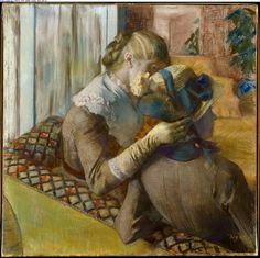 """At the Milliner's"" - by Edgar Degas (1883) 