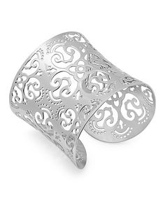Stainless Steel Filigree Cuff by HMY Jewelry on #zulily today! http://www.zulily.com/invite/nkennedy1159