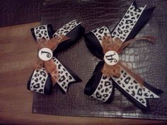 Cutest bows ever, made by the best Cheer Mom ever!