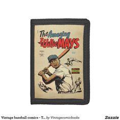 #baseball #vintagecomicbooks #marvel #dccomics #theamazingwilliemays #comicbook #sports #williemays Vintage baseball comics - The amazing Willie Mays Tri-fold Wallet
