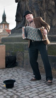 Street Musician, Charles Bridge by LenDog64, via Flickr