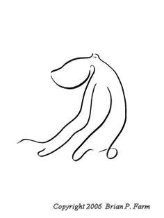 Octupus - gestural drawing 3 - ink