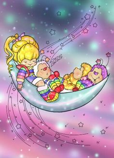 Rainbow Brite Coloring Page by Rainbow-Beanicorn on deviantART Old Cartoons, Classic Cartoons, My Childhood Memories, Childhood Toys, Childhood Images, Retro, Rainbow Brite, 80s Kids, Ol Days