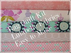 Lulabelle Rag Quilt Kit,Easy to Make, Personalized