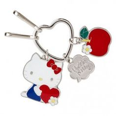 Keep your keys together with this Hello Kitty Key Ring! Decorate your key with this kawaii accessory!