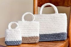 Falling Spring Crochet | Easy Gift Bag Crochet Pattern | Free, easy gift bag crochet pattern that includes 3 different sizes (sm, med, lg). Perfect for holding small gifts, goodies, and party favors during birthday parties and holiday celebrations. Whether you make one (or ten!), this pattern is sure to come in handy!