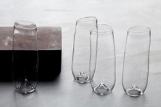 Stemless champagne flutes. The ideal wedding gift.9 - 11 ounces5.5