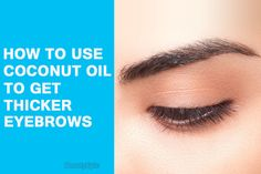 how to use coconut oil for eyebrows