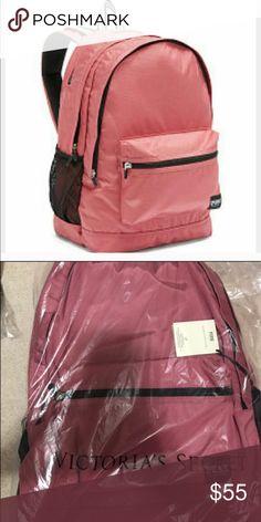 "BNWT PINK Victoria's Secret campus backpack Durable fabric/ top stash pocket/ interior pockets/ padded laptop sleeve/ water bottle pockets/ comfy shoulder straps. 18""H 12""W 8""D.   Brand new in original package PINK Victoria's Secret Bags Backpacks"