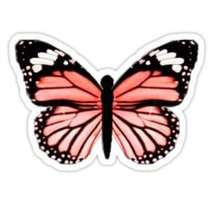 VSCO butterfly sticker Sticker stickers 'VSCO butterfly sticker' Sticker by -ralitsa- Stickers Cool, Red Bubble Stickers, Printable Stickers, Laptop Stickers, Vsco, Tumbler Stickers, Cute Butterfly, Journal Stickers, Aesthetic Stickers