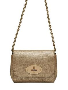 Love these shoes by MULBERRY Mini Lily Metallic Leather Shoulder Bag, Gunmetal - $560