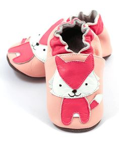 Another great find on #zulily! Pink Fox Leather Booties #zulilyfinds