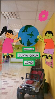 Dünya Çocuk Günü Ideas Para, Diy And Crafts, Preschool, Classroom, Creative, Manualidades, Kids, Class Room, Kid Garden