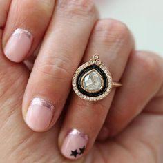 rose gold pear cut ring