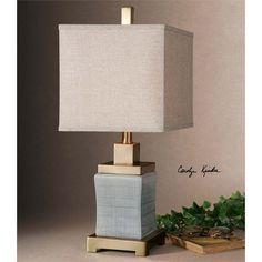 Uttermost Cantarana Pale Blue Gray Lamp