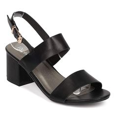 e6f33bcd79fb ShoBeautiful Women s Chunky Heel Sandal Ankle Strap Slingback Block Heeled  Casual Summer Shoes. Chunky high