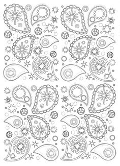 Free coloring page coloring-paisley. Beautiful and harmonious Paisley patterns to print and color: