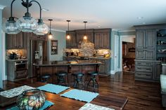 A view of this great kitchen from the seating area.
