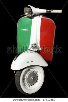 Italian Flag Vespa (Sport the Colors!)