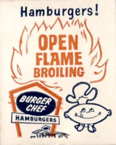 and everything else too: Burger Chef Matchbook