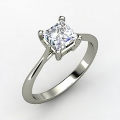 simply princess solitaire ring