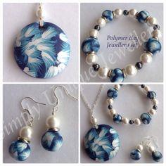 Polymer clay jewellery set