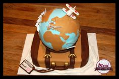 World globe travel cake