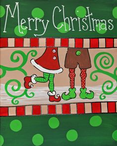 Items similar to Santa's Helpers Couple Christmas Canvas - Hand painted - Personalized FREE! Christmas Paintings On Canvas, Christmas Canvas, Christmas Art, Christmas Projects, Christmas Holidays, Christmas Ornaments, Canvas Paintings, Canvas Art, Christmas Couple