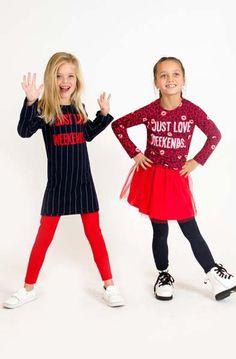 JUST LOVE WEEKENDS! Wie houdt er nou niet van het weekend! Deze dames in ieder geval wel ;). #kinderkleding #friends #kidsmode #kindermode #girlslook #meisjes #feest #rood #herfst #lente #merk #hip Kids Mode, Just Love, Spotlight, Christmas Sweaters, Chill, Outfits, Style, Fashion, Women's