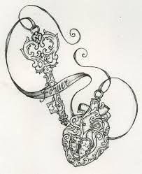 heart locket tattoo - Google Search