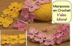 Cordón de Mariposas en Crochet - Video tutorial