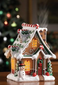 Smoking Christmas Gingerbread House Incense Burner