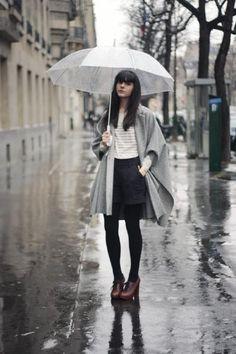 Rainy Outfit - The Cherry Blossom Girl Rainy Outfit, Rainy Day Outfit For Work, Outfit Of The Day, Outfits For Rainy Days, Rain Day Outfits, Cherry Blossom Girl, Stylish Outfits, Fashion Outfits, Rainy Day Fashion