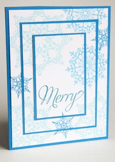 Stampin' Up! Snowflake Soiree Triple Tier Card