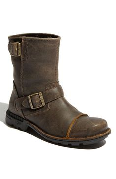 UGG® Australia 'Rockville II' Boot (Men) ($249.95), casual, rugged, water-resistant leather with toe cap and buckles, lined with genuine shearling to wick moisture. Men's at Nordstrom.