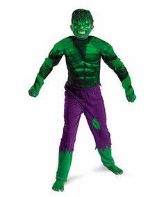 Green & Purple Incredible Hulk Dress-Up Set - Boys