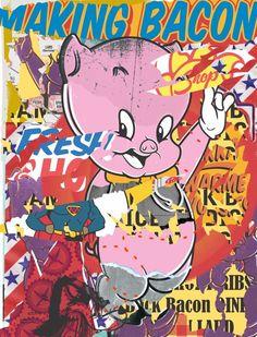 S A C A artworks - Making Bacon, Porky Pig