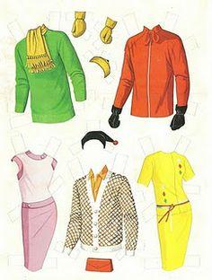 1963 Barbie, Ken and Midge paper doll clothes / eBay