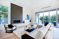 another gorgeous project complete. This West Hollywood Project sold only after a couple weeks on the market. The gorgeous modern in. Contemporary Fireplace, House Styles, Modern, House Interior, Lounge Room, Modern Fireplace, Interiors Dream, Interior Design, Relaxing Living Room
