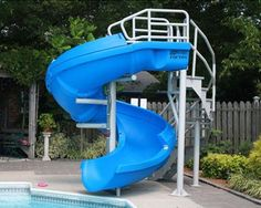 Inground Pools With Waterslides Inground Swimming Pools Ultimate Outdoor Living Sr Smith Vortex Water Slide Specs Pictures And Videos Swimming Pool Slides, Swimming Pool Designs, Swimming Pools, Above Ground Pool Slide, In Ground Pools, Ideas De Piscina, Piscina Intex, Diy Pool, Pool Backyard